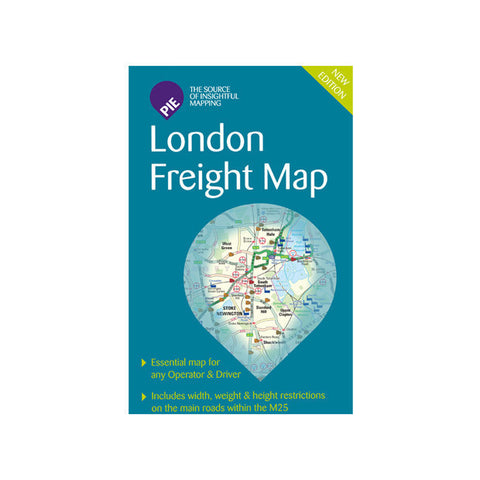 London Freight Driver Map (Route Planning & Folded for ease of use)