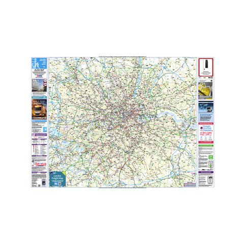 London Freight Map Laminated - Pie Guides - 1