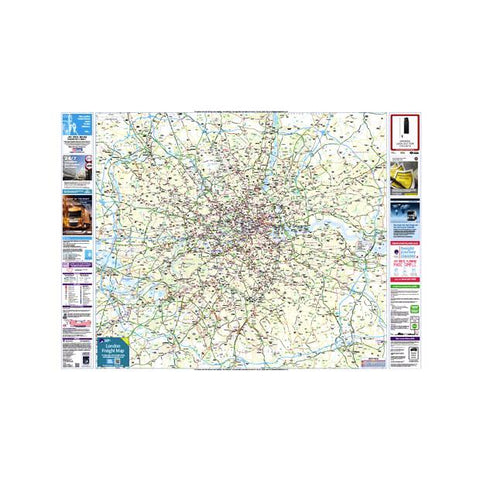 Four London Freight Map (Laminated) - Multi Pack