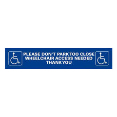 Wheelchair Access Sticker - Pie Guides