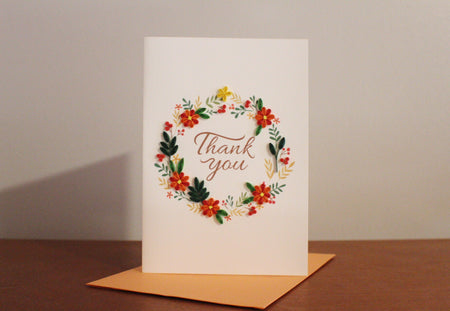 The Orange Floral Thank You joins the UViet family!