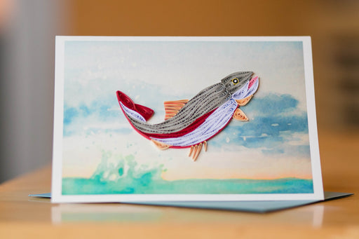 Rainbow Trout Quilling Card - UViet Store