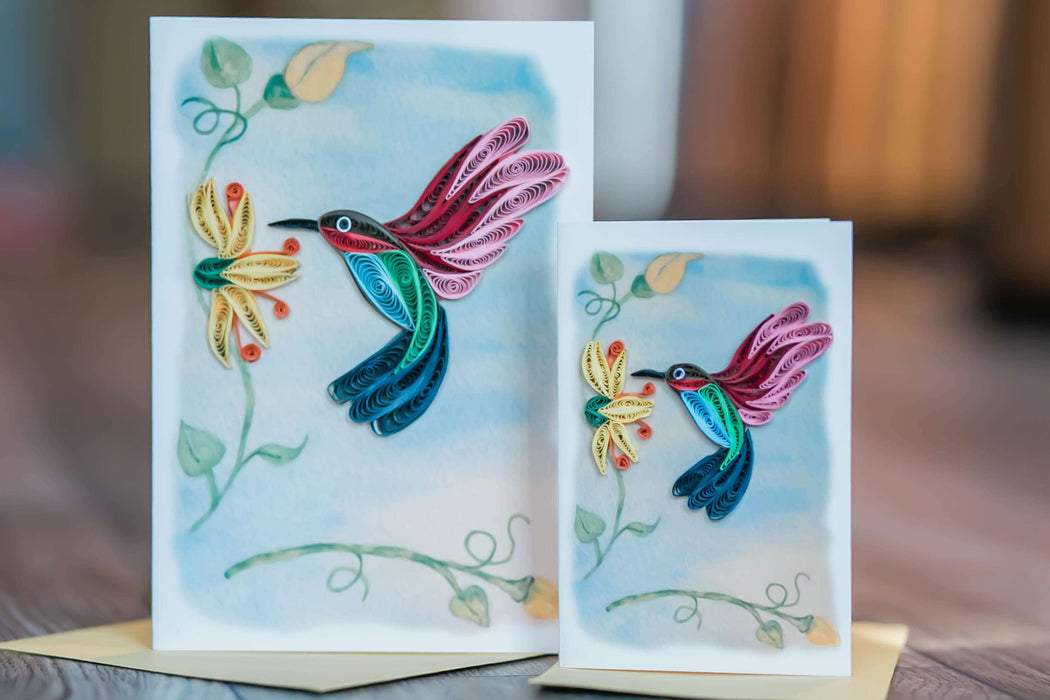 Hummingbird (Mini) Quilling Card - UViet Store