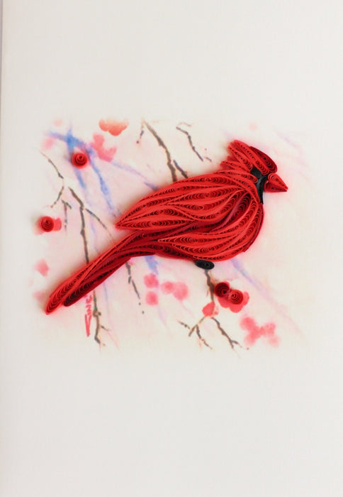 Cardinal & Holly Quilling Card - UViet Store