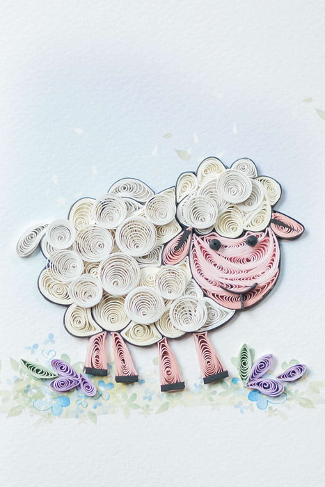 Baa Baa Baby Quilling Card - UViet Store