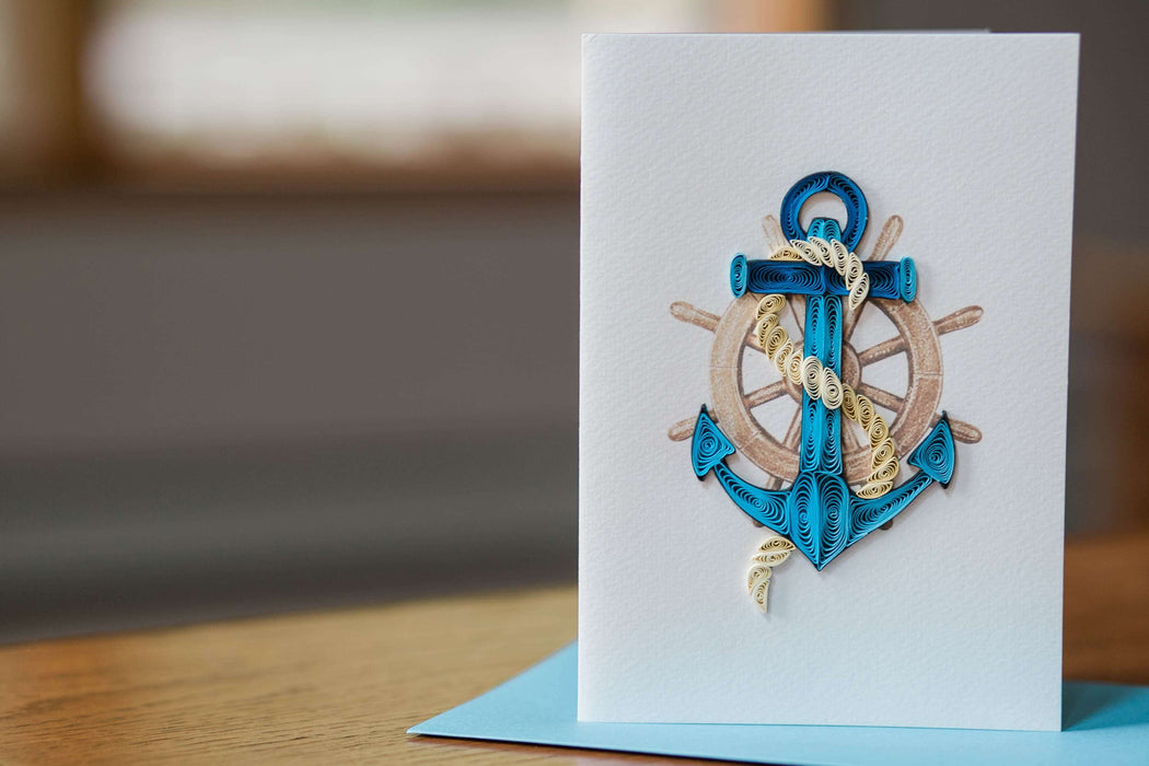Anchors Aweigh Quilling Card - UViet Store