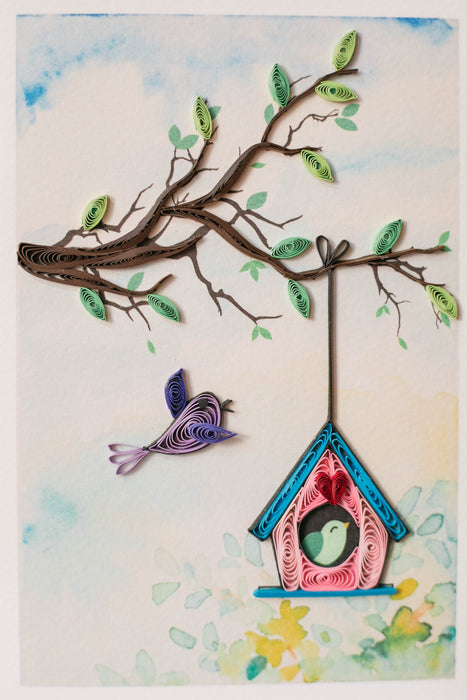 Birdhouse Bliss Quilling Card - UViet Store