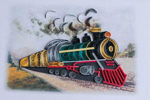 Steam Locomotive Quilling Card - UViet Store