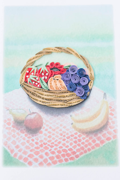 Fruit Basket Quilling Card - UViet Store