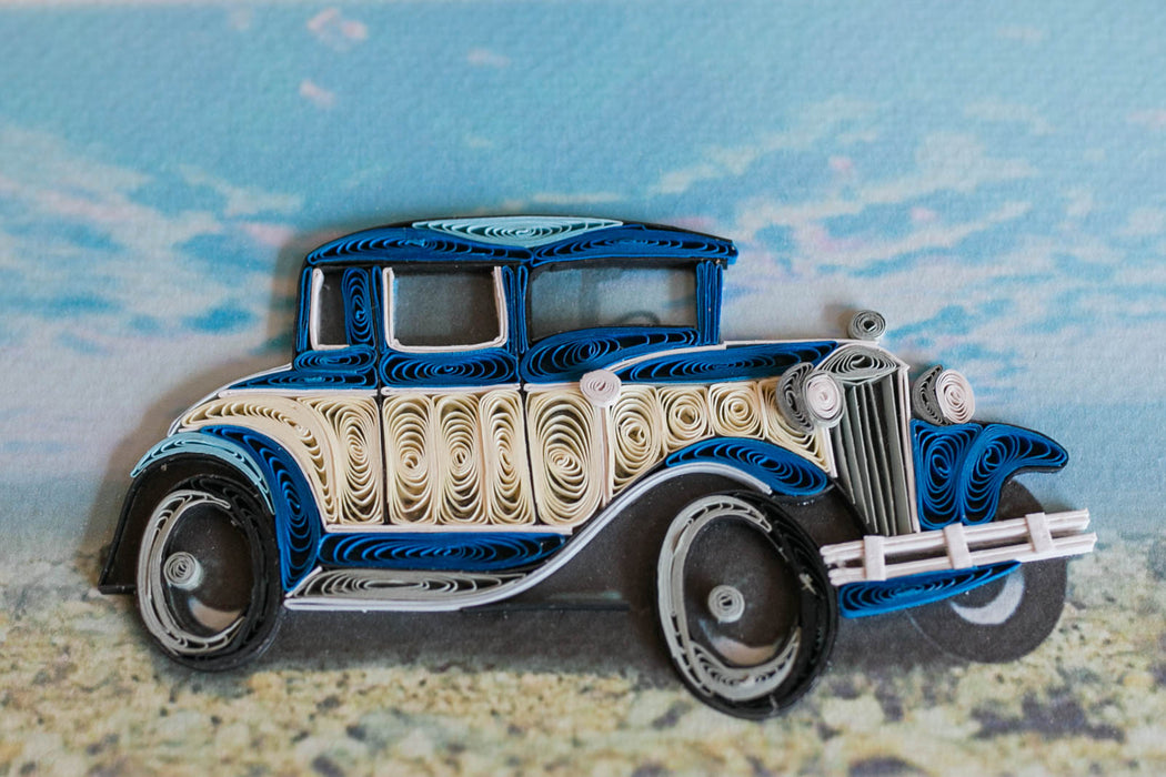 Model A Car Quilling Card - UViet Store