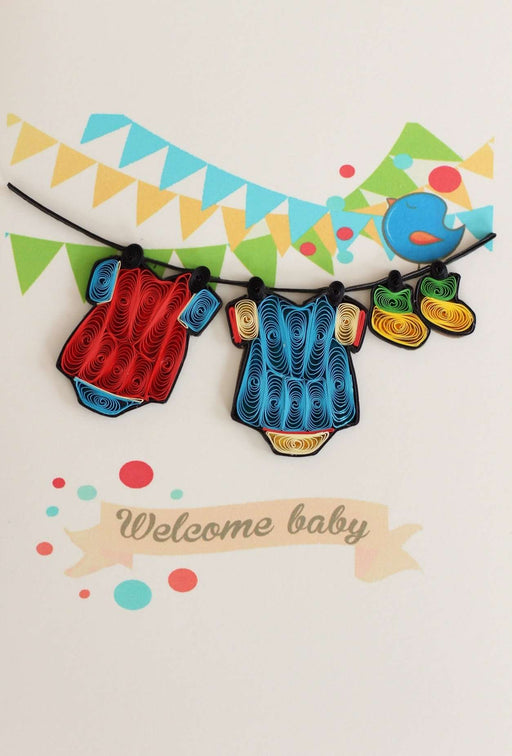 Welcome Baby Boy Quilling Card - UViet Store