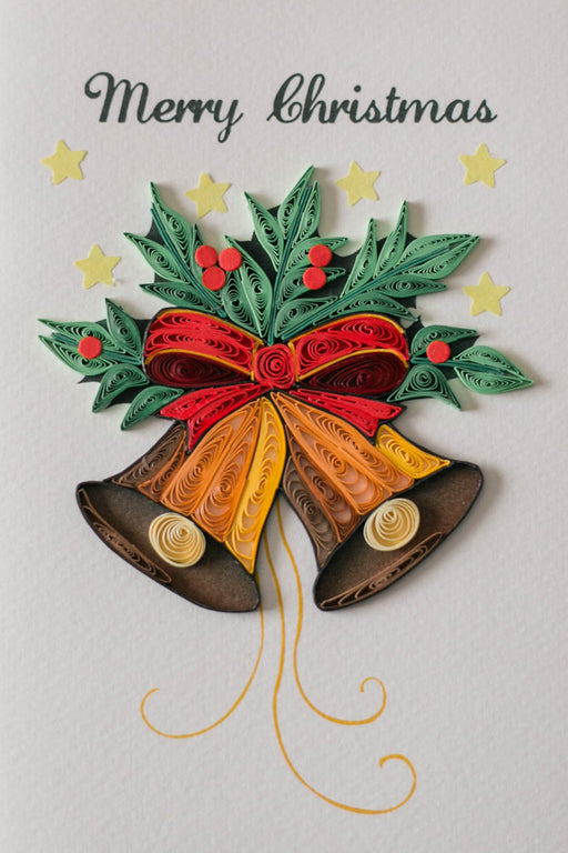 I Heard the Bells on Christmas Day Quilling Card - UViet Store