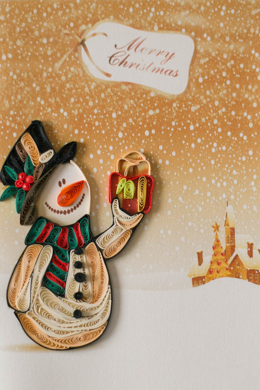Snowman Quilling Card - UViet Store