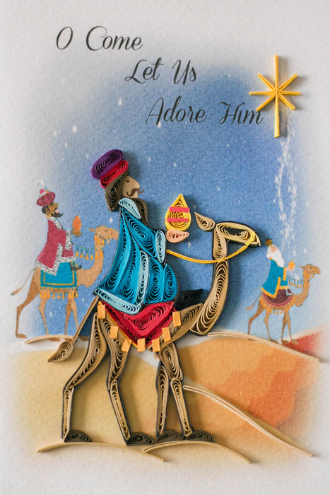 We Three Kings Quilling Card - UViet Store