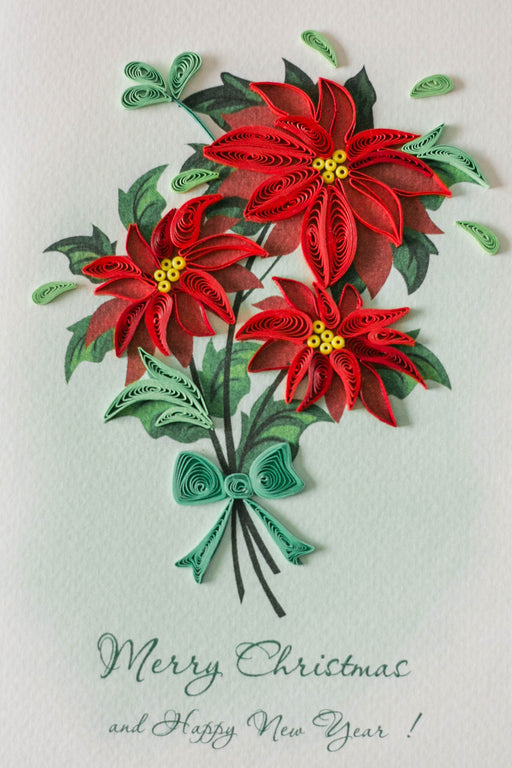 Poinsettia Quilling Card - UViet Store