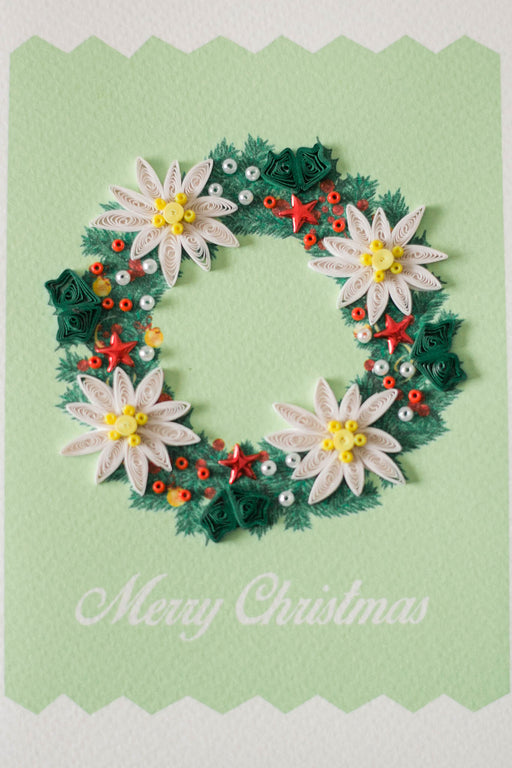 Christmas Wreath Quilling Card - UViet Store