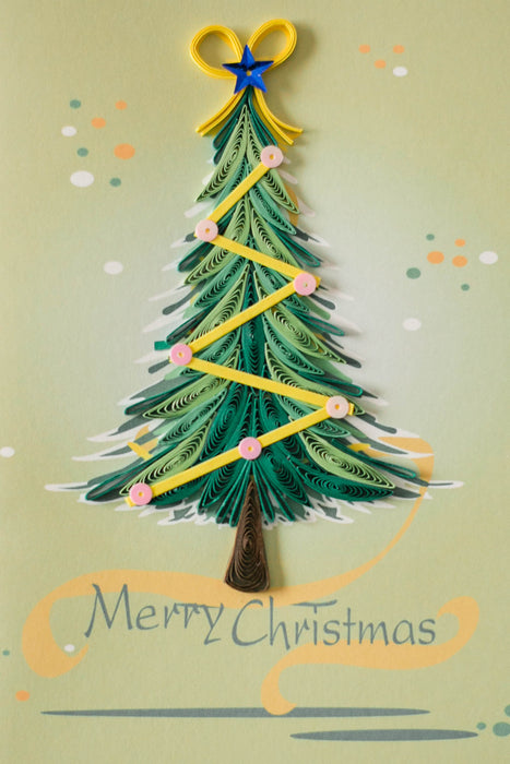 O Christmas Tree Quilling Card - UViet Store