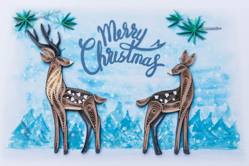 Christmas Deer Quilling Card - UViet Store