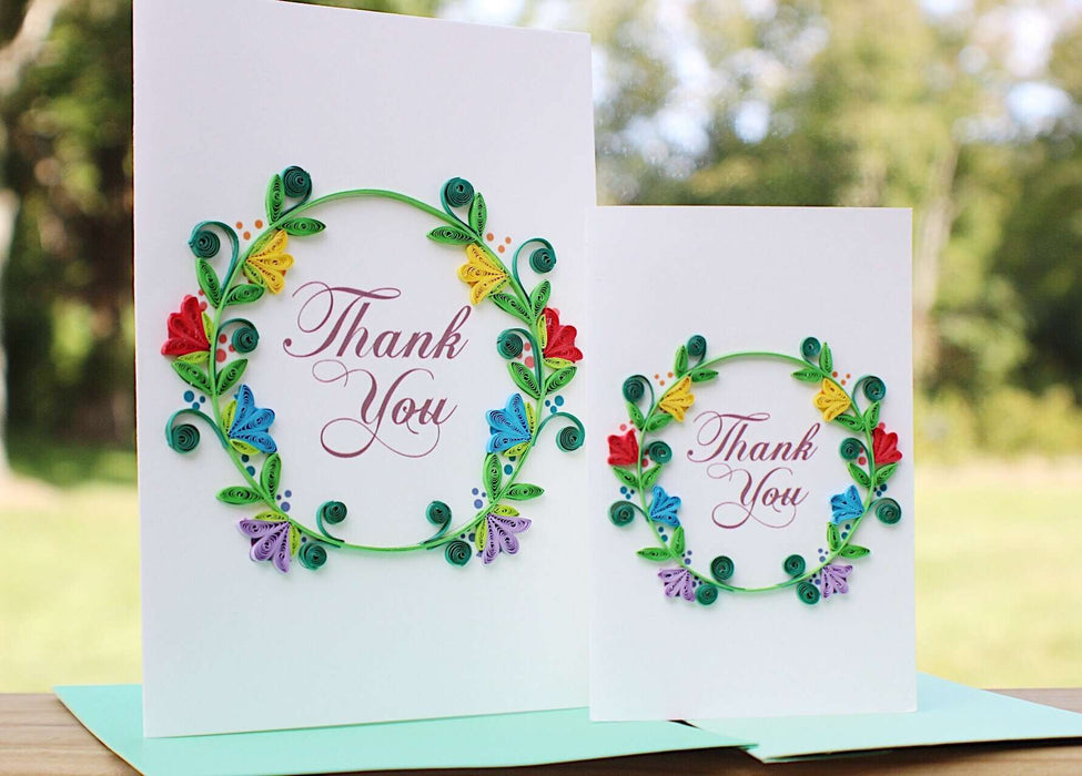 Thank you Wreath (Mini) Quilling Card - UViet Store