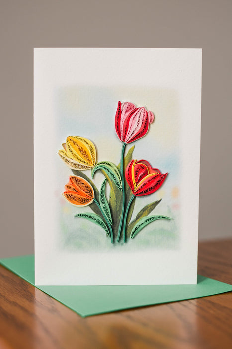 Truly Yours, Tulips Quilling Card - UViet Store