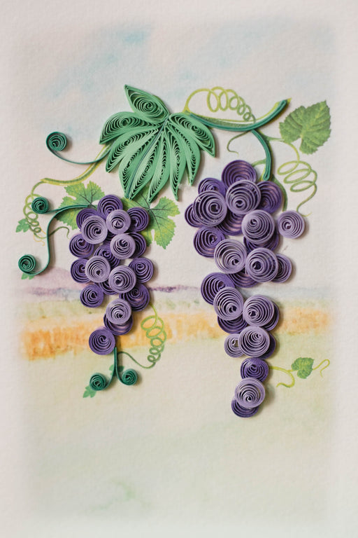Grapes Quilling Card - UViet Store