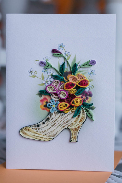 Shoe Bouquet Quilling Card - UViet Store