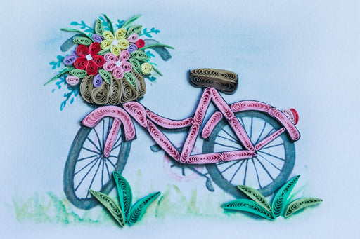 Bicycle Bouquet Quilling Card - UViet Store