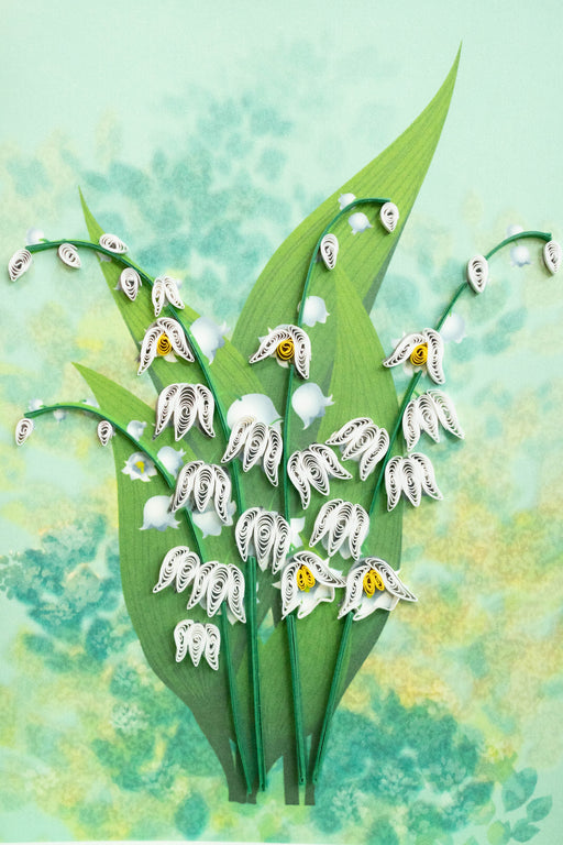 Lily of the Valley Quilling Card - UViet Store