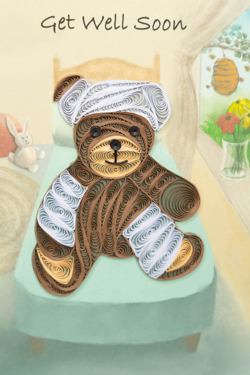 Caring Bear Quilling Card - UViet Store