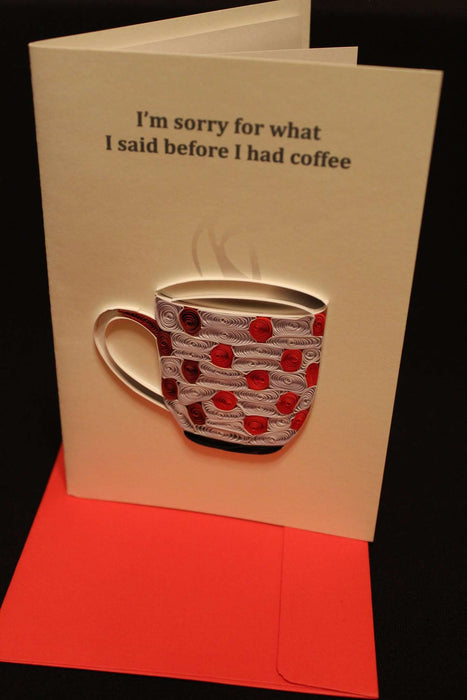 Espresso Regrets (Mini) Quilling Card - UViet Store