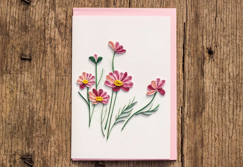 Wild for Wildflowers Quilling Card - UViet Store
