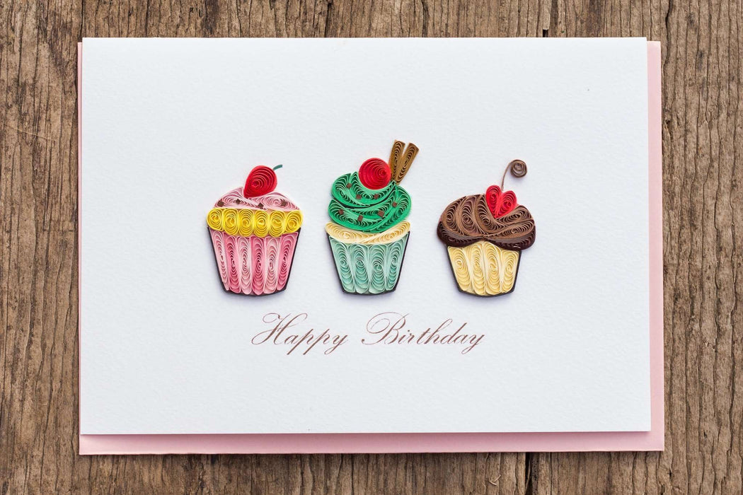 Sweet Birthday Wishes Quilling Card - UViet Store