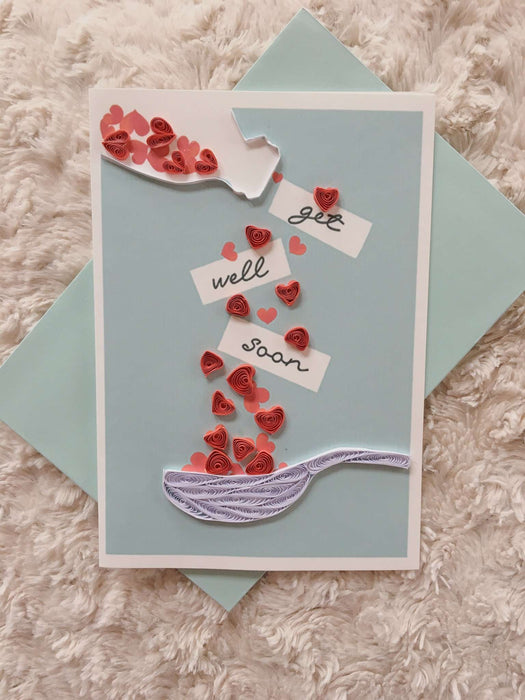 Get Well Spoon Quilling Card - UViet Store