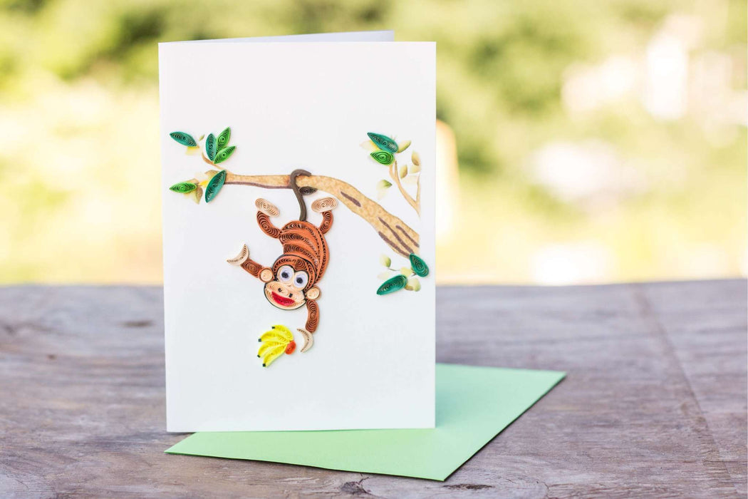 Monkeying Around Quilling Card - UViet Store