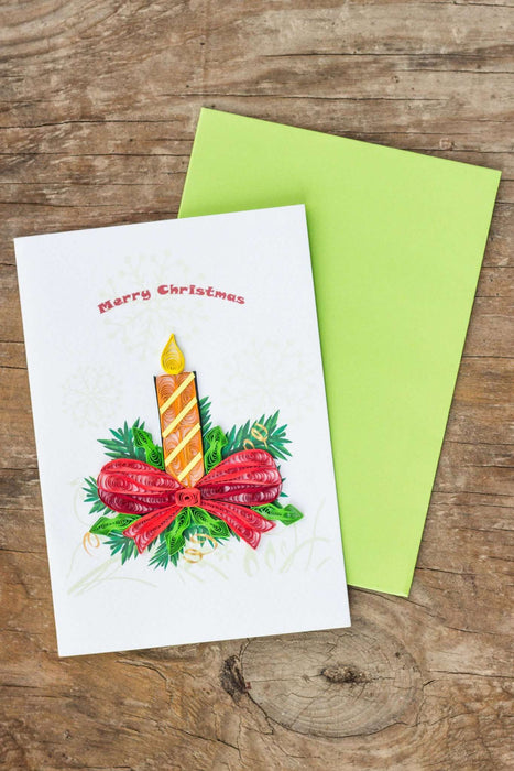 Christmas Candle Quilling Card - UViet Store