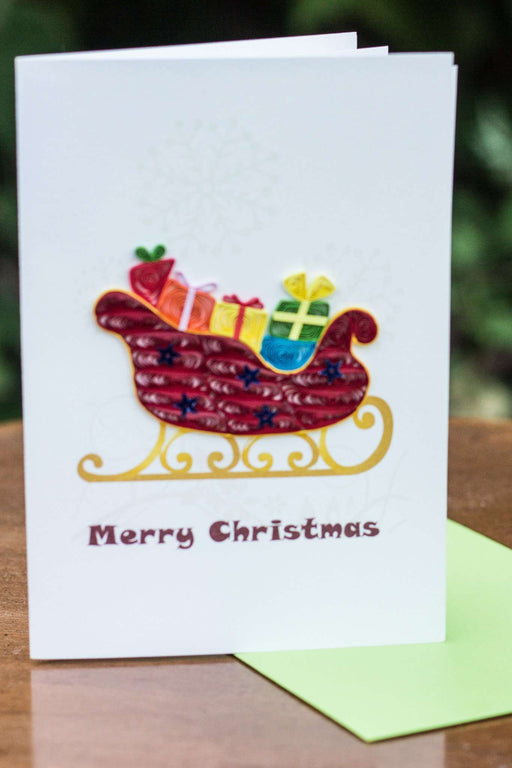 Sleigh Ride (4 cards/ pkg.) Quilling Card - UViet Store