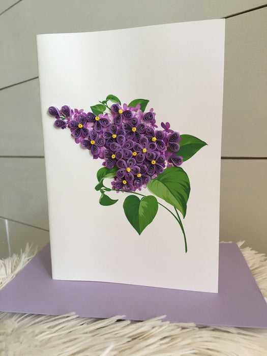 Lilacs Quilling Card - UViet Store