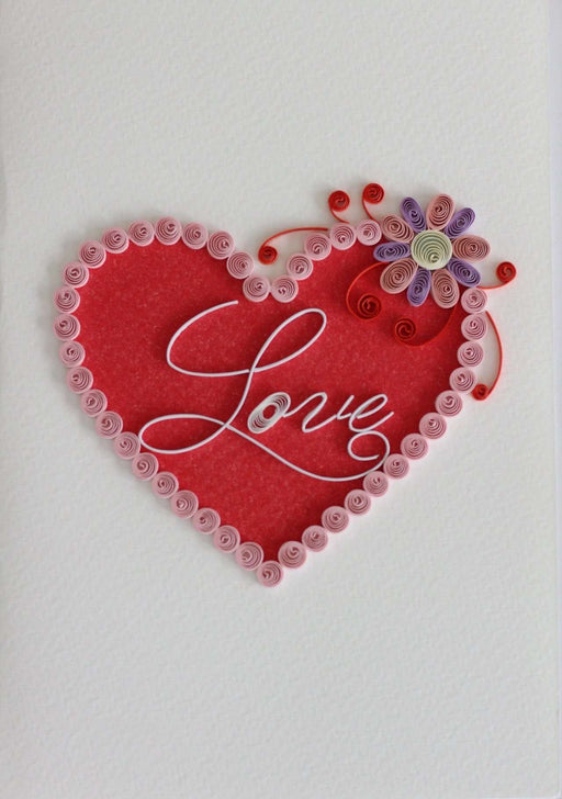 Valentine's Heart Quilling Card - UViet Store