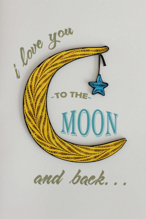 To the Moon and Back (Mini) Quilling Card - UViet Store
