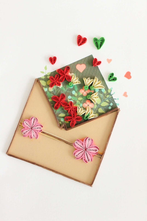 Sent with Love Quilling Card - UViet Store