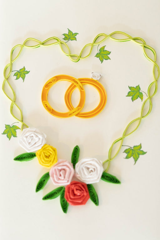 Wedding Rings Quilling Card - UViet Store