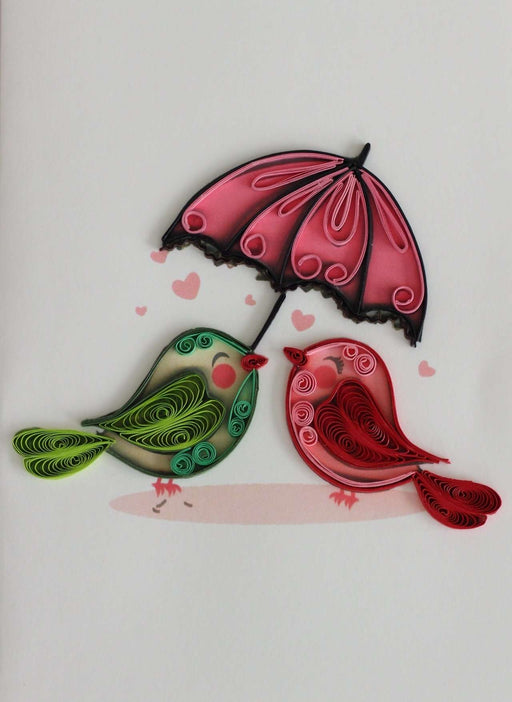 Birds & Umbrella Quilling Card - UViet Store