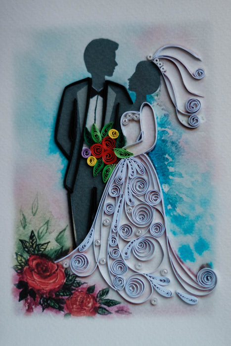 Bride & Groom Quilling Card - UViet Store