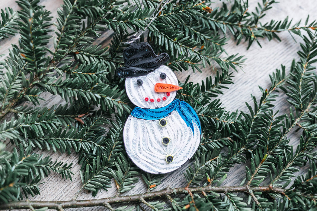 Snowman Ornament Quilling Card - UViet Store