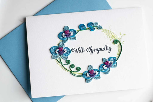 With Sympathy (TEXT INSIDE) Quilling Card - UViet Store