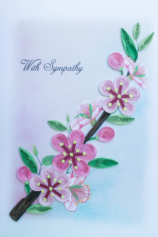 Sympathy - Cherry Branch Quilling Card - UViet Store