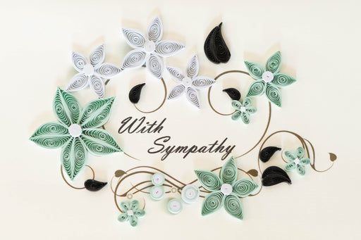 Sympathy - Floral Flourish Quilling Card - UViet Store