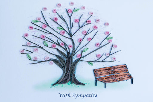 Sympathy - Cherry Tree Quilling Card - UViet Store