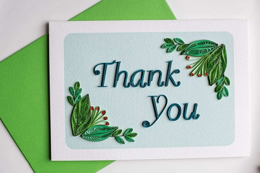 Thank You - Berry Border Quilling Card - UViet Store