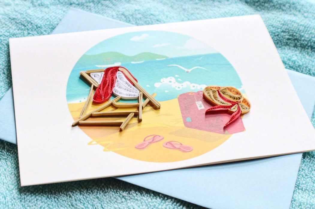 At the Beach Quilling Card - UViet Store